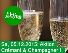 5. Dezember: Prosecco, Crémant und Champagner!