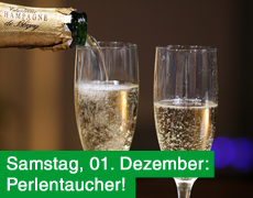 1. Dezember: Es perlt! Prosecco, Crémant und Champagner!