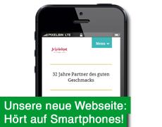 Unsere neue Webseite: Jetzt auch für iPhone & Co!