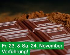23. und 24. November: Mmmm! Käse, Wein & Schokolade