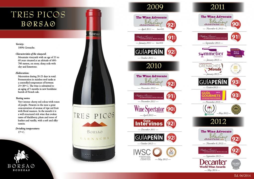Tres Picos - Auszeichnungen