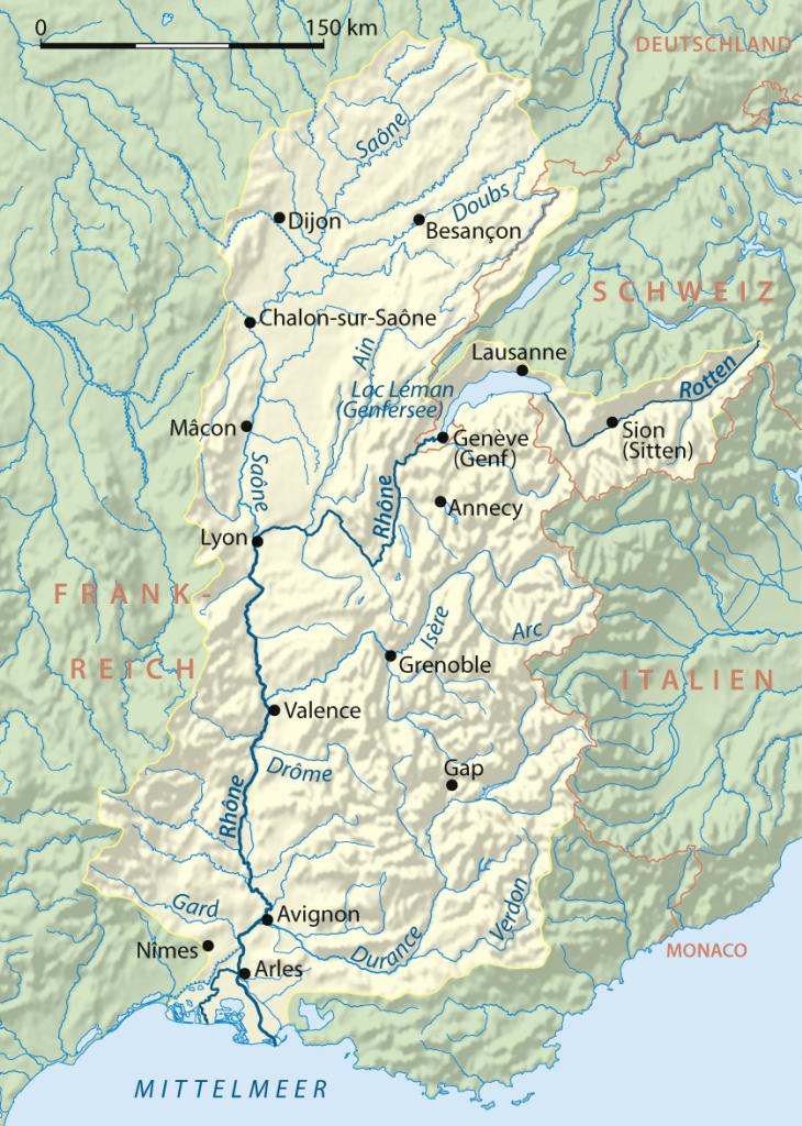 Wikipedia: Rhone Einzugsgebiet