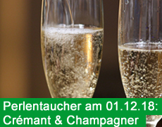 Am 01.12. Crémant & Champagner!