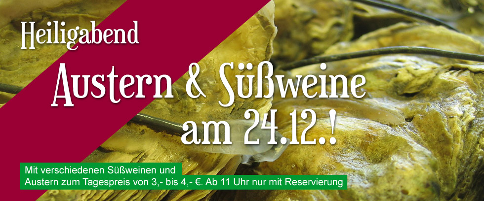 Heiligabend Austern-Spezial