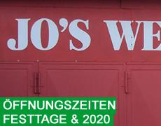 Öffnungszeiten Festtage & 2020